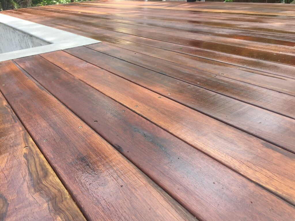 hardwood and composite decking materials